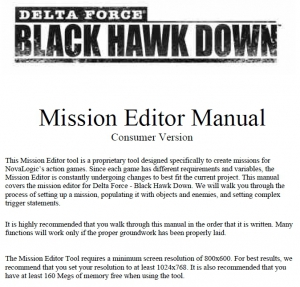 BHD Mission Editer Manual