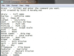 DF2 Console Commands