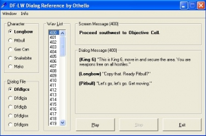 DFLW Dialog Reference Tool
