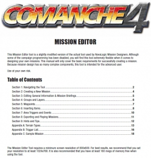 Comanche 4 (c4) Mission Editer Manual