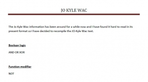 Joint Operations Kyle Wac