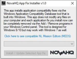 NovaLogic App Fixer (Borderless Window Fix, MED Fixes, etc.) 2018