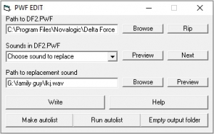 Delta Force PWF Editor