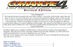 Comanche 4 (c4) Mission Editer Manual (Revised Edition)